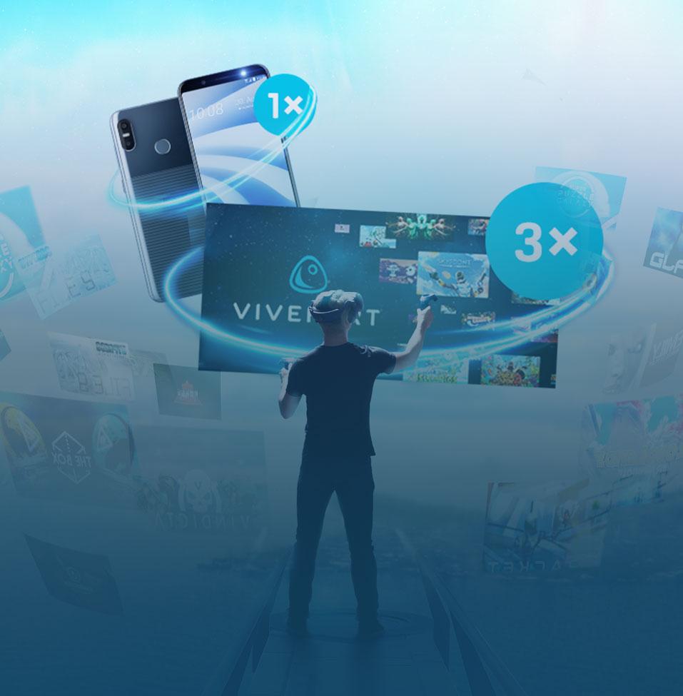 Gewinne eines von 3 VIVEPORT Inifinity Abonnements oder ein HTC U12 life